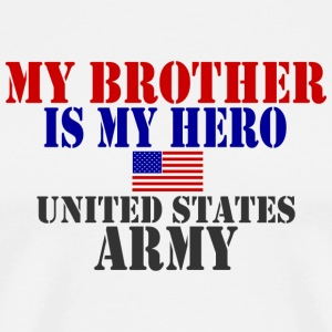 White BROTHER HERO ARMY T-Shirts - Men's Premium T-Shirt