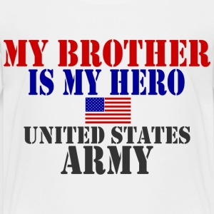 White BROTHER HERO ARMY Toddler Shirts - Toddler Premium T-Shirt
