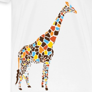 Natural Colorful Giraffe T-Shirts - Men's Premium T-Shirt
