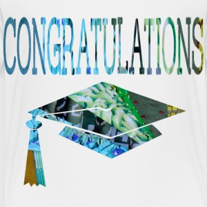 White CONGRATULATIONS GRADUATE Toddler Shirts - Toddler Premium T-Shirt