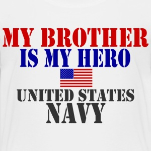 White BROTHER HERO NAVY Toddler Shirts - Toddler Premium T-Shirt