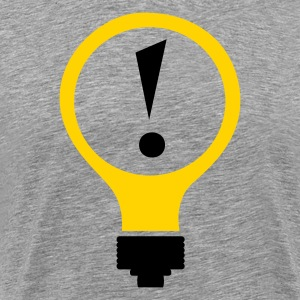 Bright Idea Tee- Ash - Men's Premium T-Shirt