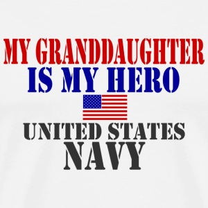 White GRANDDAUGHTER HERO NAVY T-Shirts - Men's Premium T-Shirt