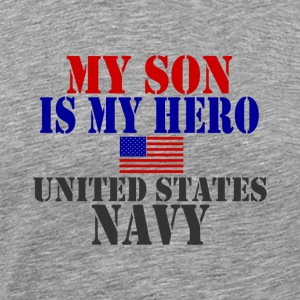 Ash  SON HERO US NAVY T-Shirts - Men's Premium T-Shirt