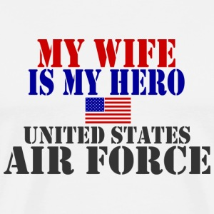 White WIFE HERO USAF T-Shirts - Men's Premium T-Shirt
