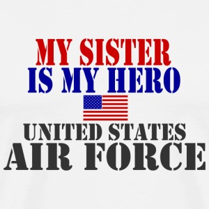 White SISTER HERO USAF T-Shirts - Men's Premium T-Shirt