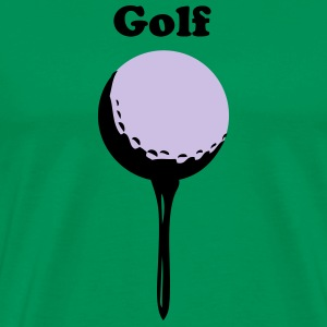 Bright green golf ball and tee T-Shirts - Men's Premium T-Shirt