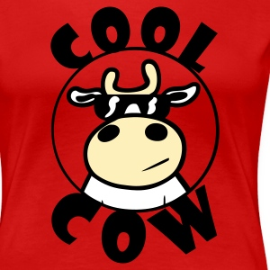 Red Cool Cow Plus Size - Women's Premium T-Shirt