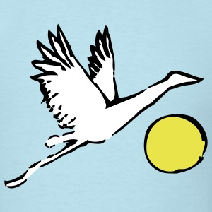 Sky blue Crane over Sun T-Shirts - Men's T-Shirt