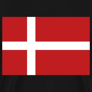 Black Danish Flag T-Shirts - Men's Premium T-Shirt