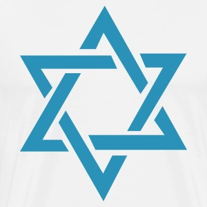 White Star of David T-Shirts - Men's Premium T-Shirt
