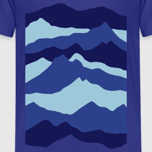 Royal blue mountains - nature - waves - water Kids' Shirts - Kids' Premium T-Shirt