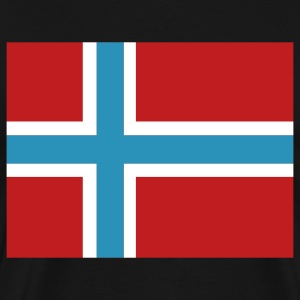 Black Norwegian Flag T-Shirts - Men's Premium T-Shirt