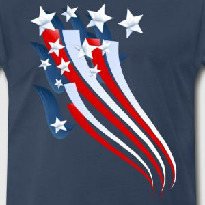 Sweeping American Flag - Men's Premium T-Shirt