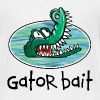 White Gator Bait Funny Baby / Toddler Clothes Toddler Shirts - Toddler Premium T-Shirt