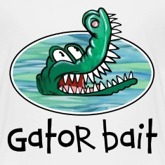 White Gator Bait Funny Baby / Toddler Clothes Toddler Shirts