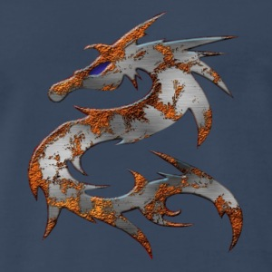 Navy September Eye Dragon T-Shirts - Men's Premium T-Shirt