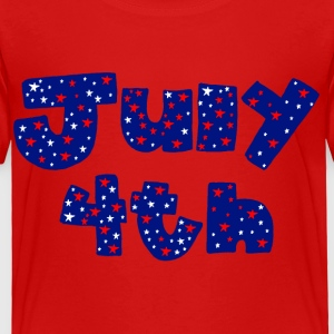 Red July 4th Toddler Shirts - Toddler Premium T-Shirt