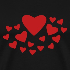 Black Heart Spray T-Shirts - Men's Premium T-Shirt