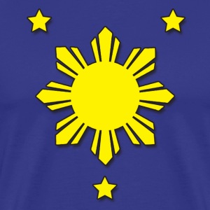 Philippine Flag - Stars and Sun - Men's Premium T-Shirt