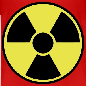 Red Radioactive Sign Toddler Shirts - Toddler Premium T-Shirt