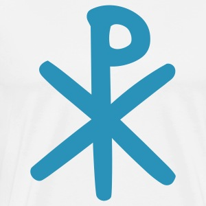 White Chi Rho T-Shirts - Men's Premium T-Shirt
