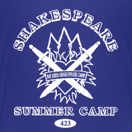 Design ~ Kids' Bay Area Shakespeare Camp White Logo Basic Tee