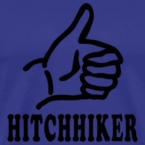 Royal blue hitchhiker T-Shirts - Men's Premium T-Shirt