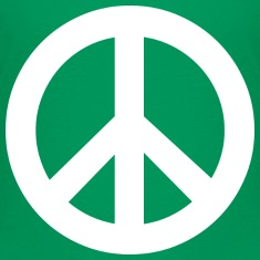 Kelly green Peace Sign Kids' Shirts
