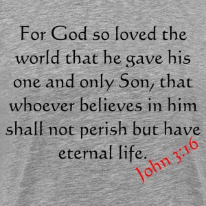 Heather grey john 3:16 T-Shirts - Men's Premium T-Shirt