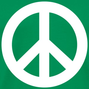 Bright green Peace Sign T-Shirts - Men's Premium T-Shirt