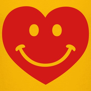 Yellow heart smiley Kids' Shirts - Kids' Premium T-Shirt
