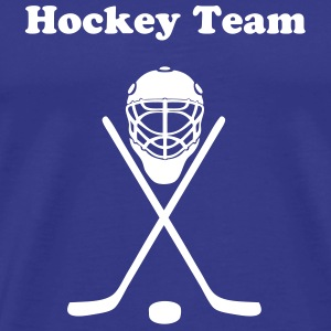 Royal blue hockey T-Shirts - Men's Premium T-Shirt