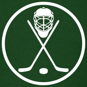Forest green hockey circle T-Shirts - Men's T-Shirt