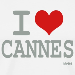 White i love cannes by wam T-Shirts - Men's Premium T-Shirt