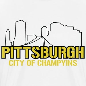pittsburgh city of champions T-Shirts - Men's Premium T-Shirt