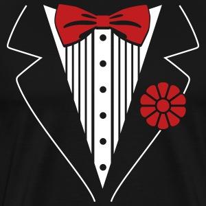 Tuxedo t shirts spreadshirt for Tuxedo shirt vs dress shirt
