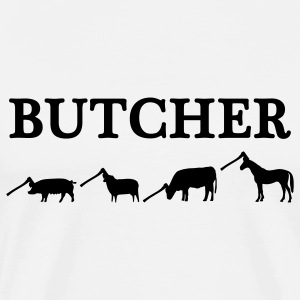 White butcher T-Shirts - Men's Premium T-Shirt