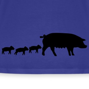 Royal blue swine T-Shirts - Men's Premium T-Shirt