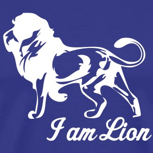 Royal blue lions  T-Shirts - Men's Premium T-Shirt