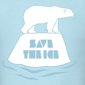 save the ice - blue - Men's T-Shirt