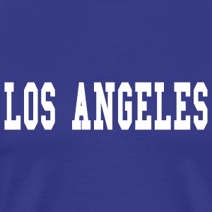 Royal blue los angeles by wam T-Shirts - Men's Premium T-Shirt