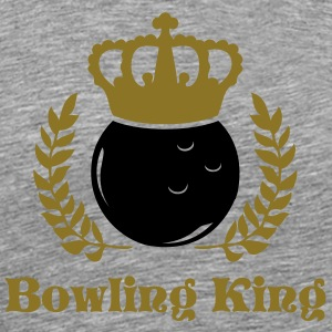 Heather grey bowling king and queen T-Shirts - Men's Premium T-Shirt