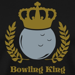 Black bowling king and queen T-Shirts - Men's Premium T-Shirt