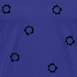 Royal blue shot holes T-Shirts - Men's Premium T-Shirt