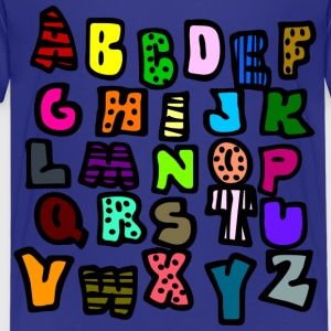 Royal blue Graffiti Alphabet Multi-Color--DIGITAL DIRECT ONLY Kids' Shirts - Kids' Premium T-Shirt