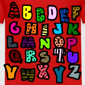 Red Graffiti Alphabet Multi-Color--DIGITAL DIRECT ONLY Toddler Shirts - Toddler Premium T-Shirt