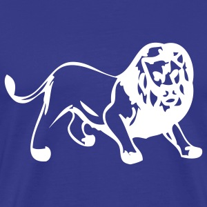 Royal blue lions sport team T-Shirts - Men's Premium T-Shirt