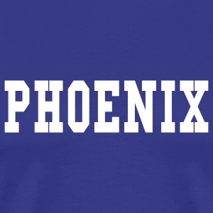 Royal blue phoenix by wam T-Shirts - Men's Premium T-Shirt