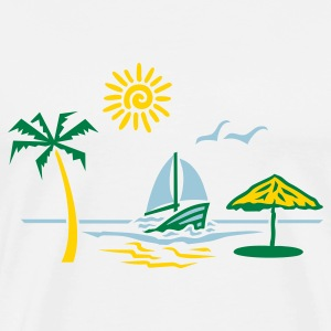White island_paradise_vacation_beach T-Shirts - Men's Premium T-Shirt